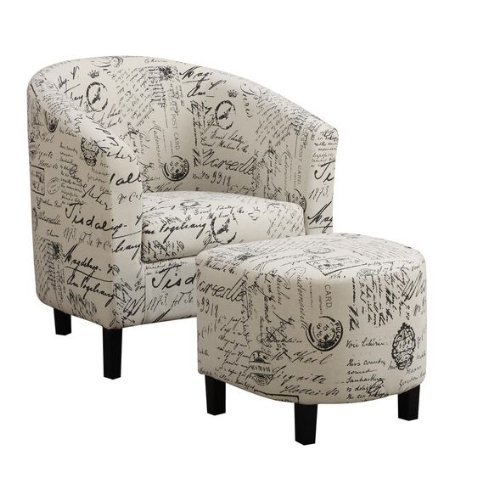 Coaster Home Furnishings Accent Chair and Ottoman