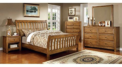 Conrad Country Bedroom Furniture Cal King Size 6-Piece Set