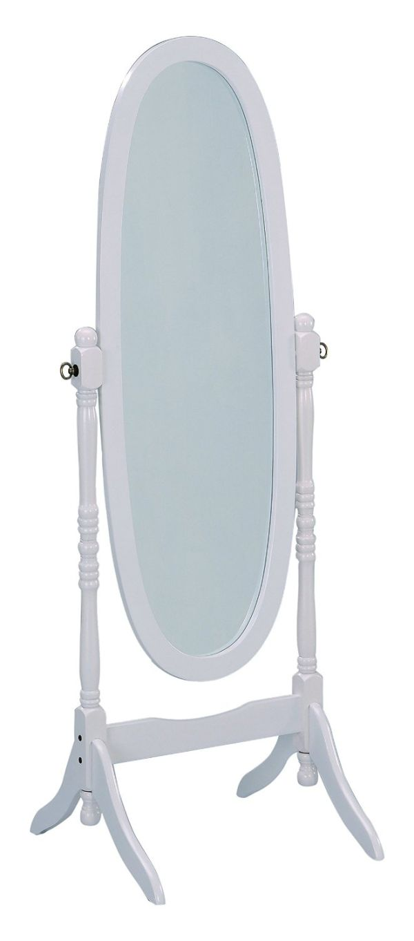 Crown Mark Cheval Mirror White Finish