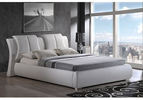 Global Contemporary Bedroom Furniture Upholstered Bed King White