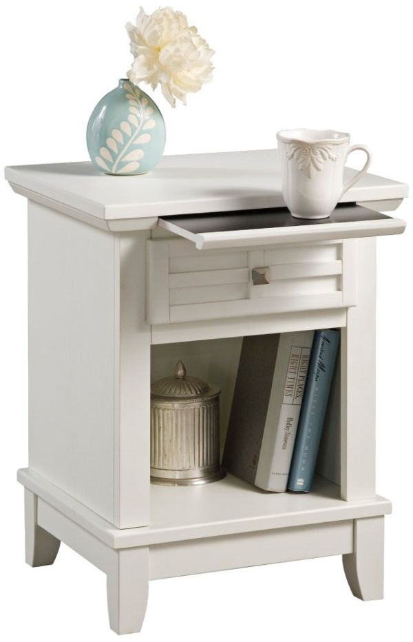 Home Styles 5182-42 Arts and Crafts Night Stand White Finish