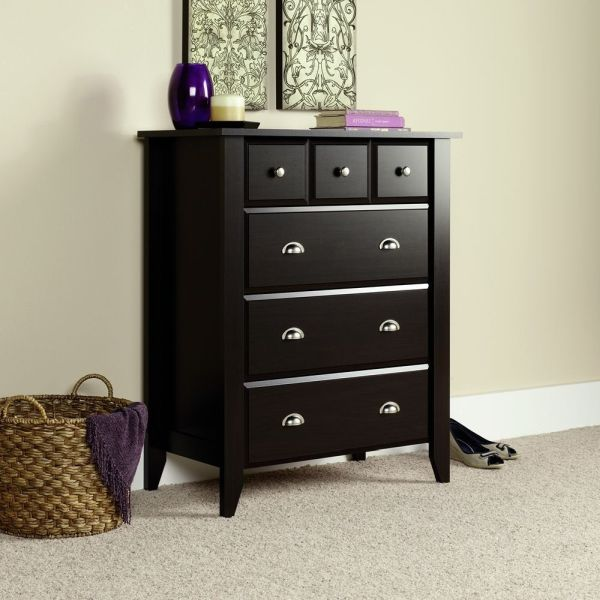 Sauder Shoal Creek 4-Drawer Chest Jamocha Wood Finish