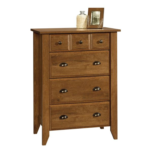 Sauder Shoal Creek 4-Drawer Bedroom Chests Oiled Oak