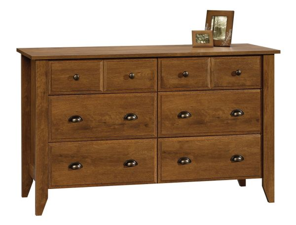 Sauder Shoal Creek Dresser Oiled Oak Bedroom Furniture