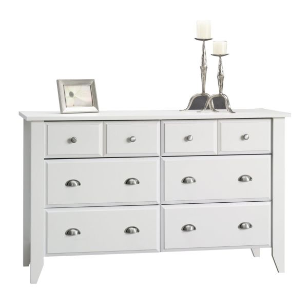 Sauder Shoal Creek Dresser Soft White Finish