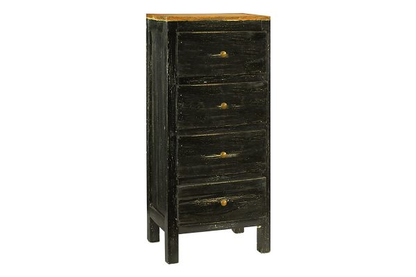 Antique Revival Lucia Rustic Dresser Black