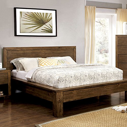 Bairro Reclaimed Finish Queen Size 6-Piece Pine Bedroom Furniture Sets