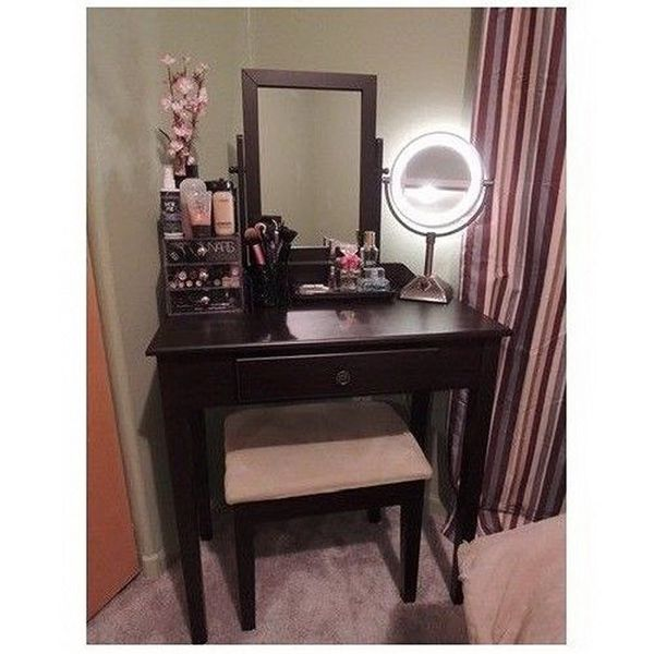 Vanity Table Set Mirror Stool Bedroom Furniture Dressing Tables Makeup Desk Gift