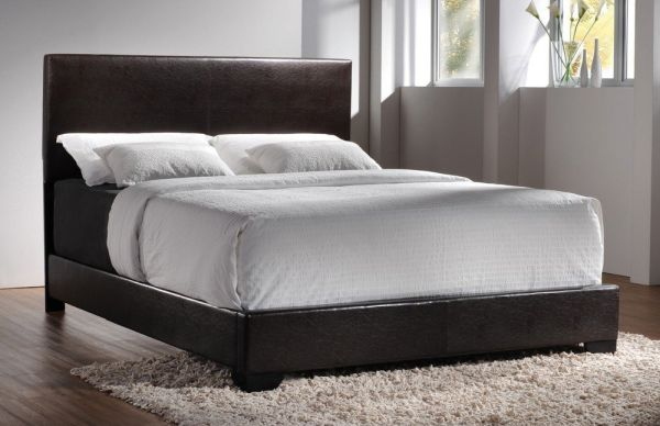 Coaster Conner Queen Size Upholstered Low Profile Bed Dark Walnut