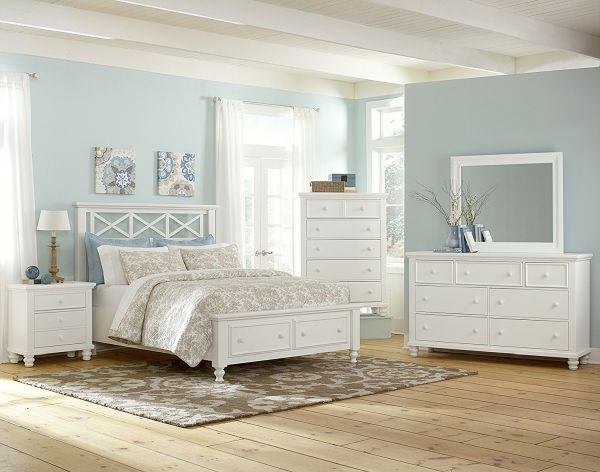Virginia House McDowell Collection Garden Storage Bed, Queen, White