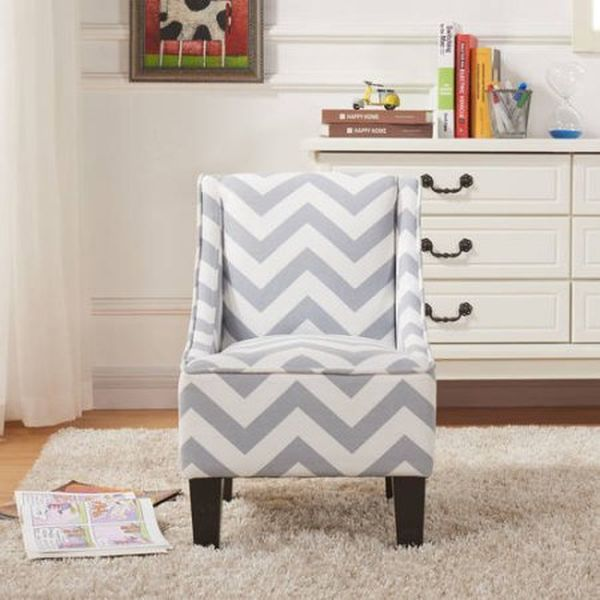 Better Homes and Gardens Kids Swoop Chair Grey Cheveron