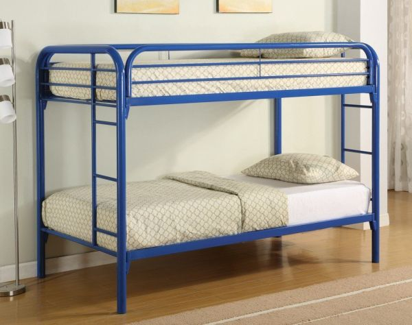 Coaster Twin Twin Bunk Bed Blue