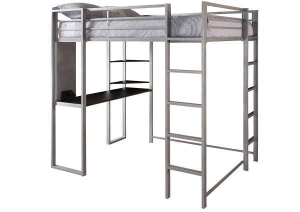 Dorel Home Products Abode Full Size Loft Bed Silver
