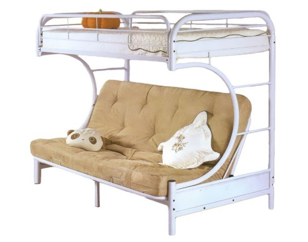 Milton Greens Stars 7565W Orlando Twin Over Full Bunk Bed White
