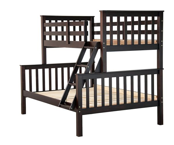 Solid Wood Mission Twin Over Full Bunk Bed