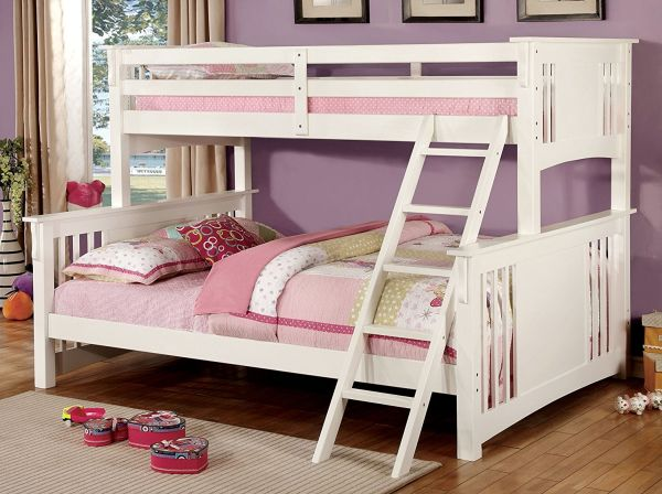 Furniture of America Denny TwinXL-Queen Bunk Bed White