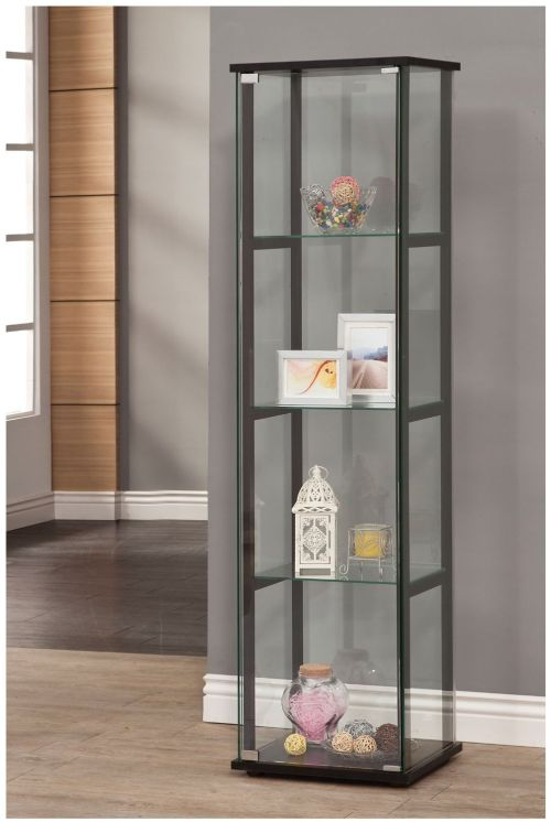 Coaster Home Furnishings 950171 Curio Cabinet Black