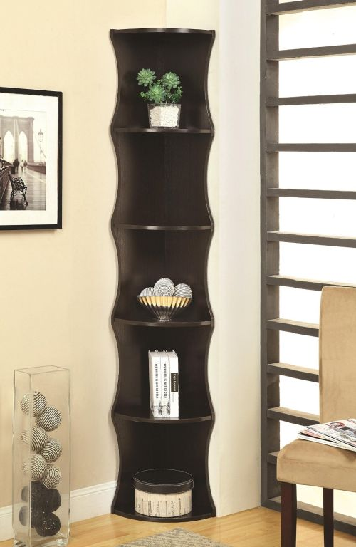 Coaster Home Furnishings Casual Corner Shelf Cappuccino