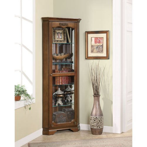 Coaster Curio Cabinet Home Furnishings Traditional Cherry