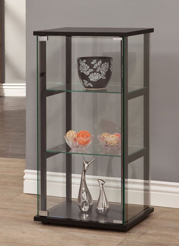 Coaster Home Furnishings 950179 Curio Cabinets with Glass Doors Black