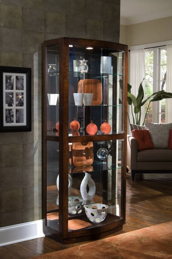 Pulaski Curio 34 by 17 by 80-Inch Brown