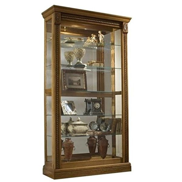 Beaumont Lane Curio Cabinet in Oak