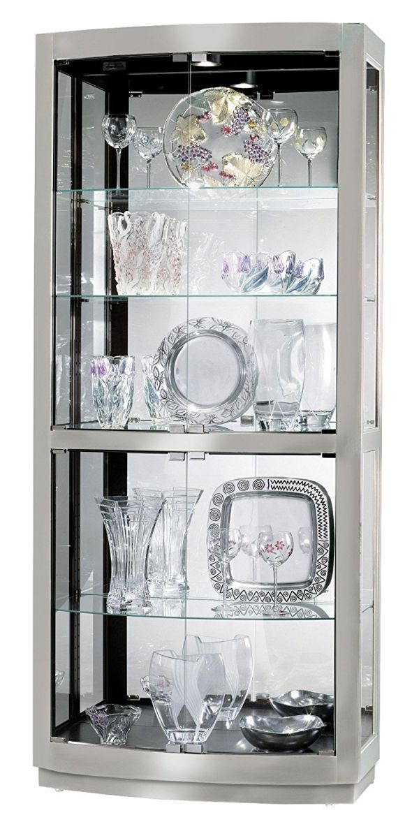 White Curio Cabinet Glass Doors
