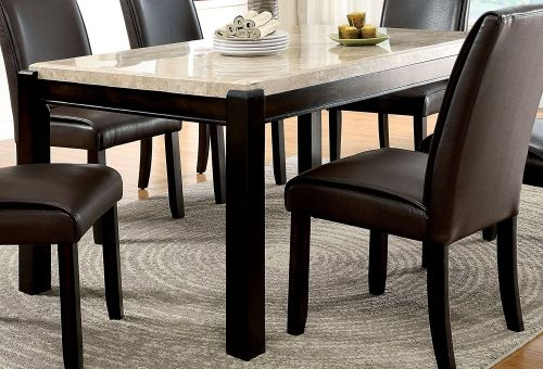 Furniture of America Minna Contemporary Faux Marble Dining Table