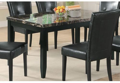 Coaster Home Furnishings 102791 Casual Black marble dining table
