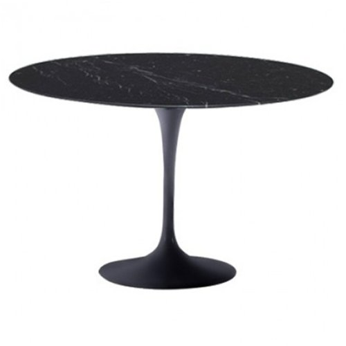 Fine Mod Imports Flower Marble Table 32-Inch Black