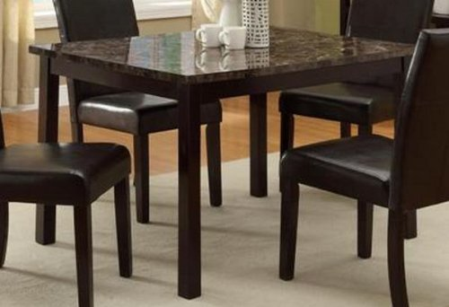 Pompei Dining Table with Marble Top Faux