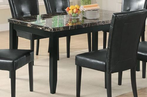 Coaster Home Furnishings 102791 Casual Dining Table, Black