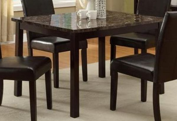 Pompei Dining Table with Faux Marble Top