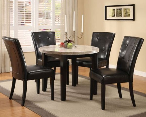 Marion 5-Piece Marble Top Dining Table