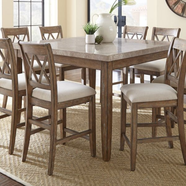 Dining Table with White Marble Top