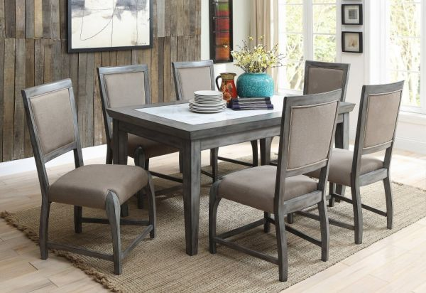 Real Marble Dining Table Set