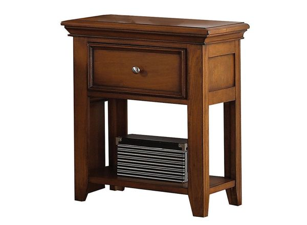 ACME Furniture 30558 Lacey Nightstand with 1 Drawer, Cherry Oak