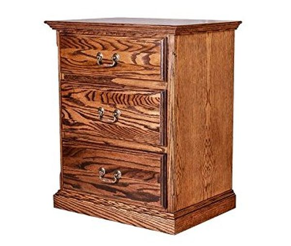 Forest Designs Traditional Three Drawer Nightstand Golden Oak