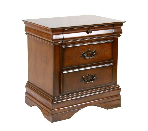 Furniture of America Laurelle 2-Drawer Nightstand, Dark Oak
