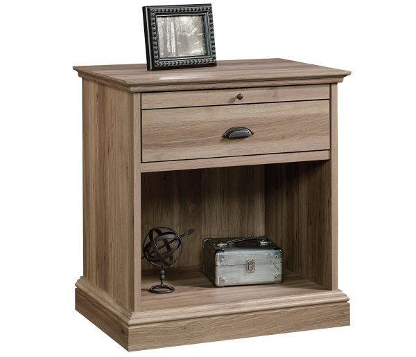 Sauder 418705 Furniture, Night Stand, Salt Oak