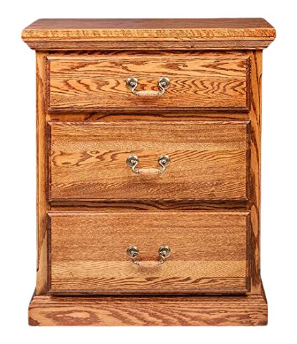 Forest Designs Traditional Honey Oak Nightstand 3 Drawer