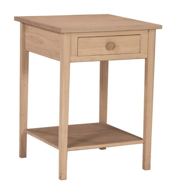 International Concepts OT-91 Hampton Bedside Table Unfinished