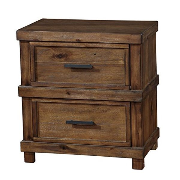 2 Drawer Antique Oak Nightstand