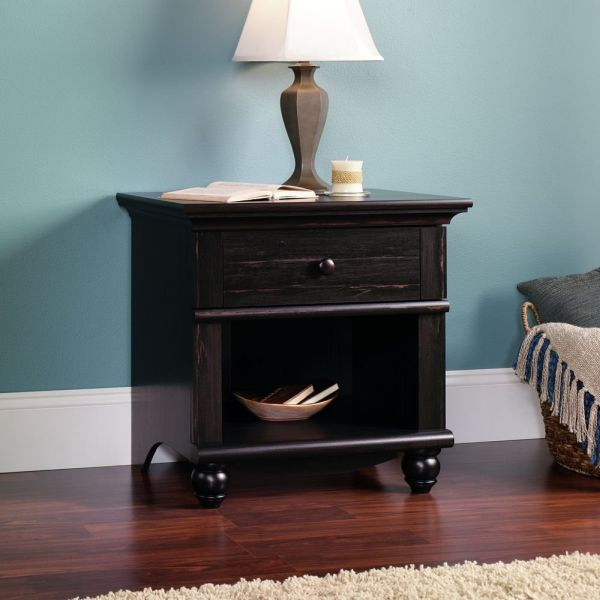 Sauder Harbor View Collection Nightstand Antiqued Paint