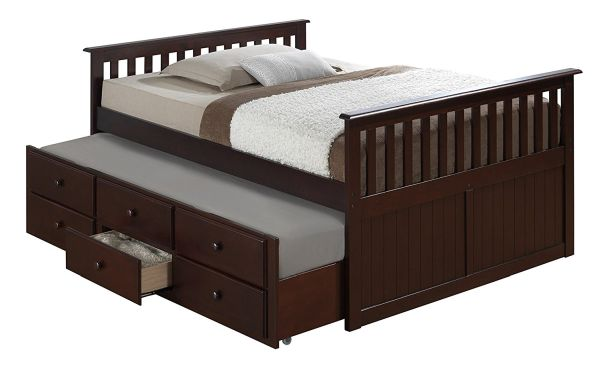 Broyhill Kids Marco Island Full Captains Bed with Trundle Espresso
