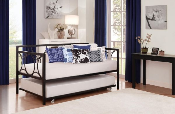 DHP Universal Trundle Fits Most Daybeds Black-Trundle Only