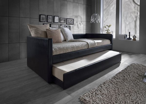 Black Wood Trundle Bed Frame
