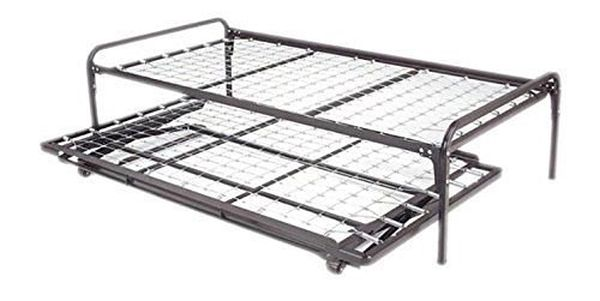 Dream Solutions Dark Metal Day Bed Frame Trundle Included Black
