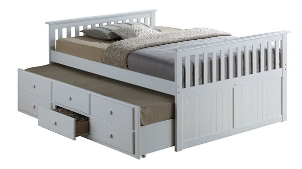 Broyhill Kids Marco Island Full Captains Bed with Trundle White