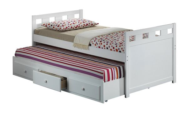 Broyhill Kids Breckenridge Captains Bed with Trundle Bed and Drawers White